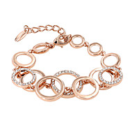 Bracelet/Chain Bracelets Alloy / Zircon Circle Fashionable Party / Daily / Casual Jewelry Gift Gold,1pc