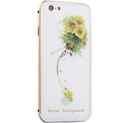 Little Yellow Flower Pattern Metal Frame PC painted  Hard Case for iPhone6/6s/6 Plus/6s Plus