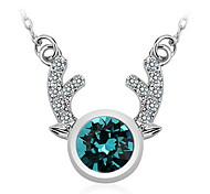 Necklace Pendant Necklaces / Pendants Jewelry Daily / Casual Fashion Crystal White / Blue / Yellow Gold 1pc Gift