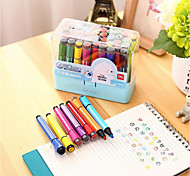 Children Nontoxic Washable Watercolor Pen 36 Hex Color Painting Graffiti Pen
