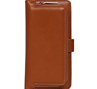 The New Plain Leather Wallet Zipper Versatile Combo for iphone 6/6s/6plus/6splus