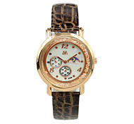 Women's Digital Pointer Silicone Strap Candy Color Rhinestones Fashion Belt Casual Quartz Watches