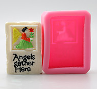 Angel And Flower Chocolate Silicone Molds,Cake Molds,Soap Molds,Decoration Tools Bakeware