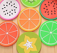 Soft Fruit Pattern Insulation Coaster
