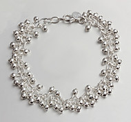 Women's Fashionable Light Grape Shape Silver Bracelet Christmas Gifts