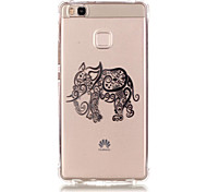TPU Material Elephant Pattern Bronzing Phone Case for  Huawei  P9 Lite/P9/ P8 Lite