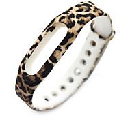 Wristband Bracelet Strap Replacement Parts For Mi band(Leopard)