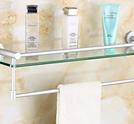 Space Aluminum Glass Shelf with a Towel Bar