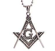 Vintage A Shaped English Pendant Pendant Pendant Necklace Fashion Titanium Letters