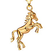 New Arrival Gold Running Horse Necklace Pendant 18K Gold / Platinum Plated Necklace For Women Men Gift P30157