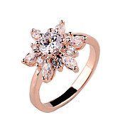 New zircon Fashion Ladies Ring copper gold color white gold rose gold gold