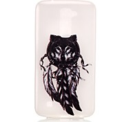 Feathers Pattern Pattern Relief Glow in the Dark TPU Phone Case for LG K10/K8/K7/K5