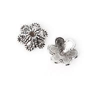 36pcs beadia plata antigua granos de la aleación del casquillo de 10x3mm forma de la flor granos del espaciador