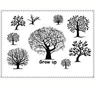 5PCS Fashion Tree Body Art Waterproof Temporary Tattoos Sexy Tattoo Stickers (Size: 3.74'' by 5.71'')