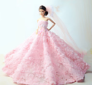 Barbie Doll Pink Wedding Organza / Lace Dresses Dresses