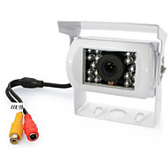 Rear View Camera - Compatibile con tutte le auto Rende - Sensore CCD da 1/4 pollici - 170 ° - 420 linee TV