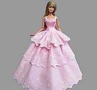 Princess Dresses For Barbie Doll Pink Dresses