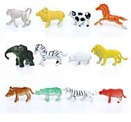 12pcs Animal Action Figures Set Modeling Elephant / Baboon / Lion / Mountain cow / Goat / Wild boar / Hedgehog