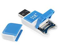 ssk lecteur micro SD USB carte TF bleu