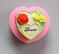 Flowers Love Chocolate Silicone Molds,Cake Molds,Soap Molds,Decoration Tools Bakeware