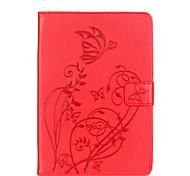 Для Бумажник для карт / Other Кейс для Чехол Кейс для Цветы Мягкий Искусственная кожа Apple iPad Mini 3/2/1