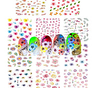 1pcs Include 11 Styles Nail Art  Stickers Simulate Design Colorful Flowers Image E358-368
