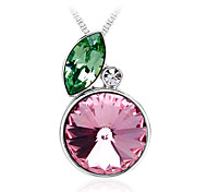 Necklace Pendant Necklaces / Pendants Jewelry Daily / Casual Fashion Crystal Green / Pink 1pc Gift