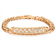 Women's Gold Chain Bracelet with Crystal