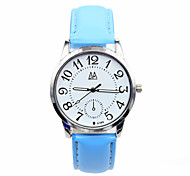 Women's Leather Strap Digital Pointer Minimalist Leisure Student Watches