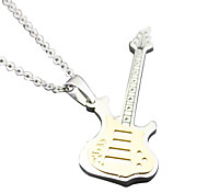 Guitar Necklace - White Gold