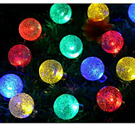 Warm White / Natural White / Colorful  Bubble Ball Waterproof 20LED Solar String Lights