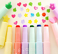 Highlighter Korea Creative Stationery Candy Color Multifunction Color Tip Marker
