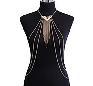 Gioielli per corpo/Catenina da pancia Catena corpo / catena della pancia Strass Tasselli Oro 1 pezzo