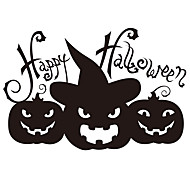 aw9426 Halloween Cartoon Wall Stickers Decorative Wall Stickers,VINYL    Removable Home Decoration Pumpkin Wall Decal