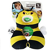1-3 Years Old Safety Seat Headrest Baby Neck Protection Pillow Type U Infant Car Travel Pillow Support Headrest Pillow(Bee)