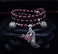 Fashionable Dark Red 80cm Round Strand Bracelets