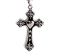 Titanium Casting Cross Pendant Necklace