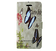 For Samsung Galaxy Case Wallet / Card Holder / with Stand / Flip Case Full Body Case Butterfly PU Leather SamsungTrend Duos / J5 / J1 /