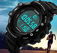Men's Tough Fashion Pedometer 3D Digital Waterproof Sport Watch