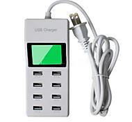8 портов USB Мульти порты Стандарт США Главная зарядное устройство с кабелемДля IPad / Для мобильного телефона / Для других Pad / For