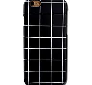 Для Кейс для iPhone 6 Кейс для iPhone 6 Plus С узором Кейс для Задняя крышка Кейс для Черный и белый Твердый PC для AppleiPhone 6s Plus