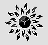 Acrylic Mirror Wall Clock Sunflower Wall Stickers