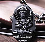Women Agate 60cm Black Pendant Necklace