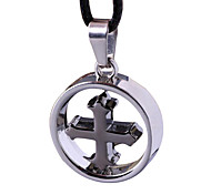 Punk With Cross Necklace, Men Collarbone Chain -The Cross Loops