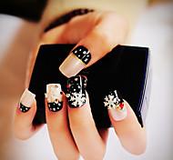 24PCS Fashion Snowflake Decorate Nail Tips