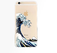 For iPhone 7 Plus Waves Pattern TPU Material Phone Case for iPhone 6s 6 Plus