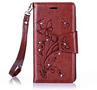 Butterfly Flower Diamond Flip Leather Cases Cover For Wiko Lenny3/Lenny2 Prime Strap Wallet Phone Bags