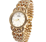 Women's Fashion Watch Simulated Diamond Watch Casual Watch Imitation Diamond Quartz Stainless Steel Band Sparkle White Gold