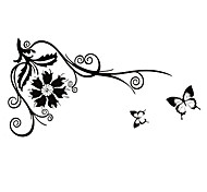 Fashion The Flowery Flower Vine Pattern PVC Bathroom or Bedroom or Glass Wall Sticker Home Decor