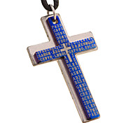 Punk With Cross Necklace, Men Collarbone Chain -Double Cross The Scriptures